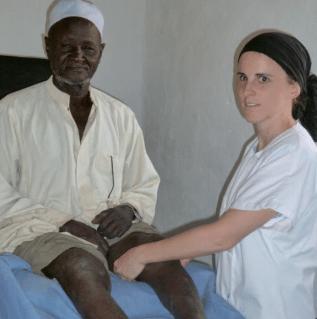 Natalie avec un patient