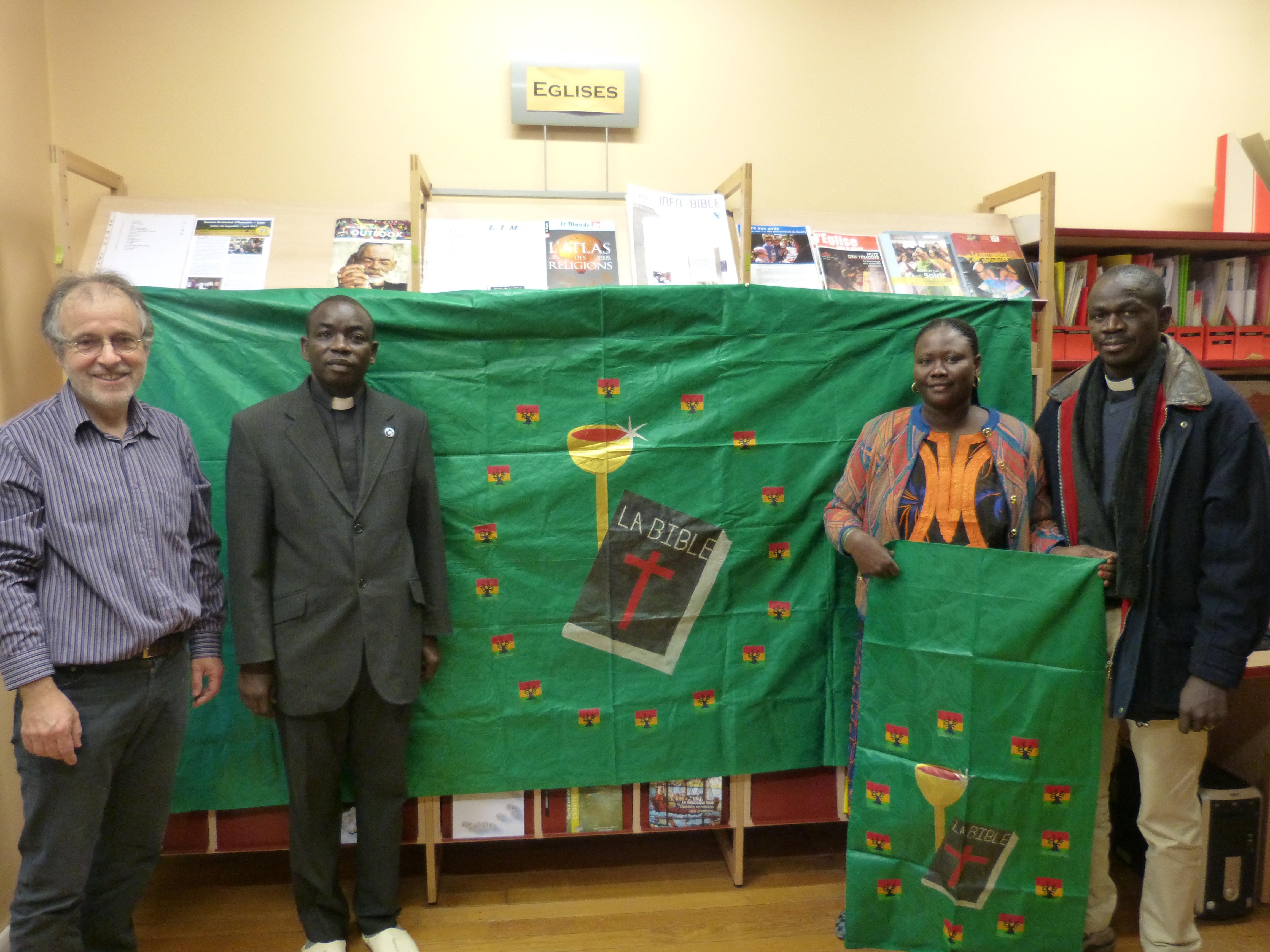 Délégation de l'ELS à Paris avec le pasteur Jean-Luc Blanc du Défap