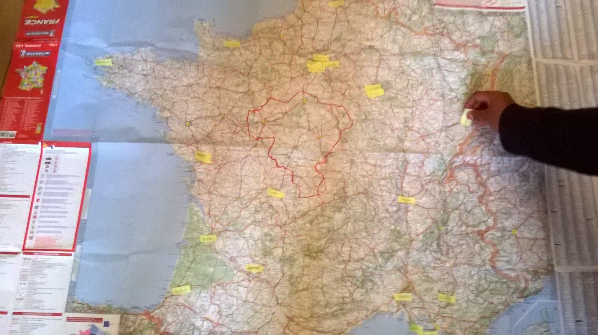 Les ABS sur la carte de France, DR